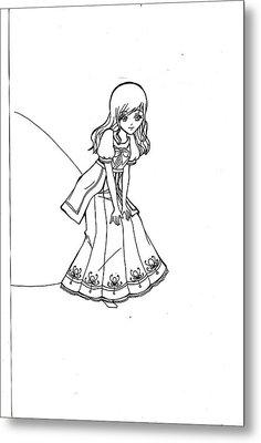 My Drawing 5 Metal Print by Miftahur Rizqiyah