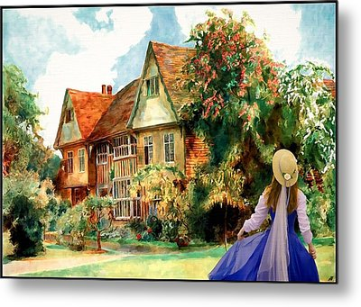 My English Country Garden Metal Print by Mary Morawska
