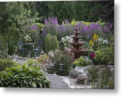 My Garden 2 Metal Print by Michel DesRoches