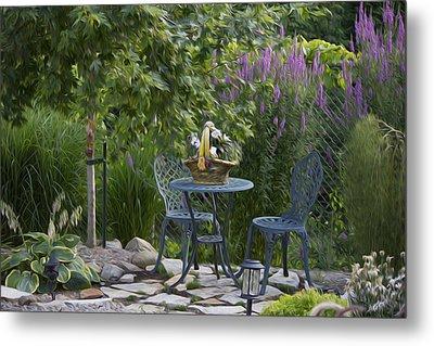 My Garden 3 Metal Print by Michel DesRoches