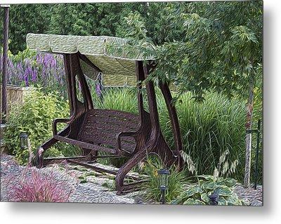 My Garden 4 Metal Print by Michel DesRoches