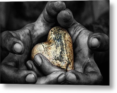 My Hands Your Hard Metal Print