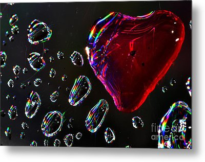 My Heart Metal Print by Sylvie Leandre