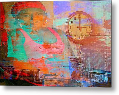 My Life As Time Goes By Metal Print by Fania Simon
