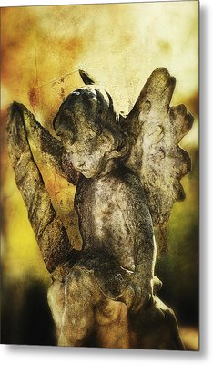 Metal Print featuring the digital art My Little Angel 02 by Kevin Chippindall