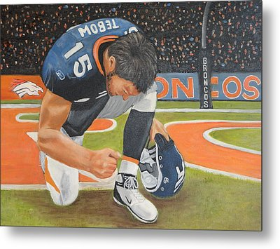 My Man Tebow Metal Print by Lynette Brown