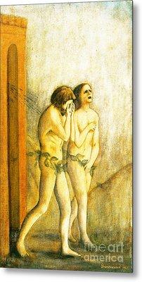 My Masaccio Expulsion Of Adam And Eve Metal Print by Jerome Stumphauzer