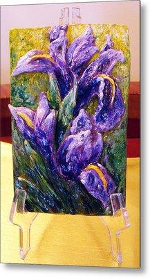 My Mini Irises Metal Print