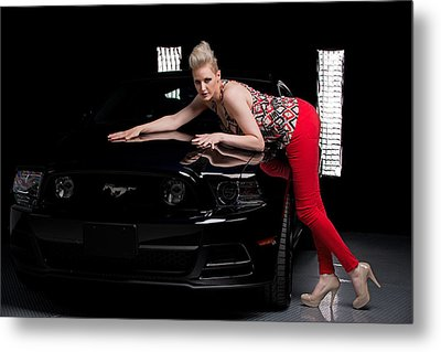 Metal Print featuring the photograph My Mustang by Jim Boardman