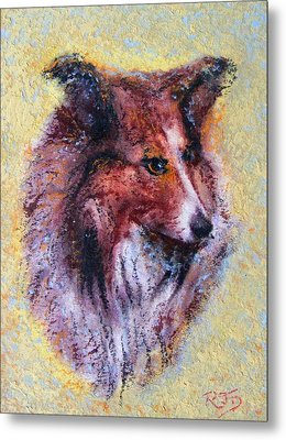 Metal Print featuring the painting My Pal Shelty by Richard James Digance