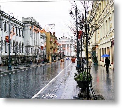 My Rainy City Metal Print by Aleksandr Volkov