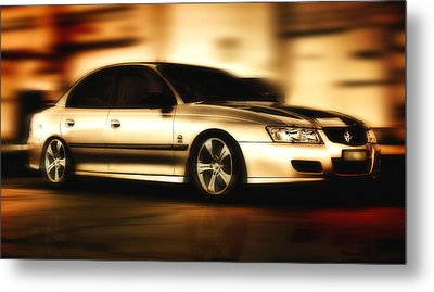 Metal Print featuring the digital art My Ride 001 by Kevin Chippindall
