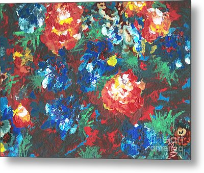 Metal Print featuring the painting My Sister's Garden II by Alys Caviness-Gober