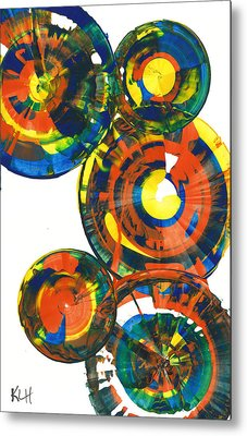My Spheres Show Happiness  864.121811 Metal Print by Kris Haas