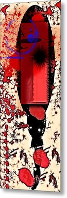 My Thoughts Hurt Metal Print by Stelios Kleanthous