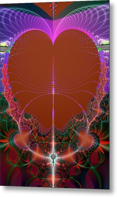 Metal Print featuring the digital art My Valentine by Ester  Rogers