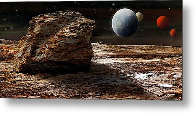 My View From Mars 2 Metal Print by Kaye Menner