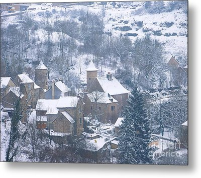 My Village Bozouls Metal Print by Sylvie Leandre