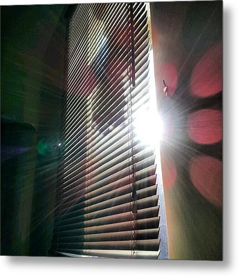 My #window In #morning #sunshine #sun Metal Print