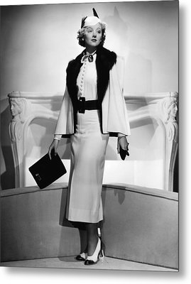 Myrna Loy, Mgm Portrait By Clarence Metal Print by Everett