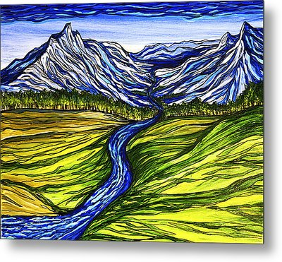 Mystic Mountains Metal Print