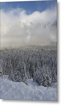 Metal Print featuring the photograph Mystic Peaks by Sylvia Hart