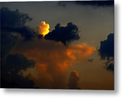 Mystical  Clouds Metal Print by J Cheyenne Howell