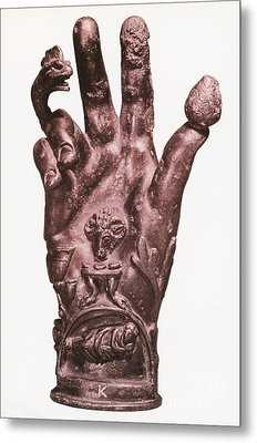 Mythological Hand Metal Print by Photo Researchers