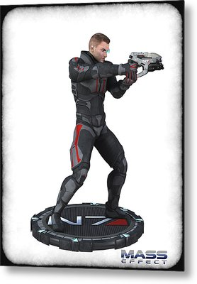 N7 Soldier V3 Metal Print by Frederico Borges