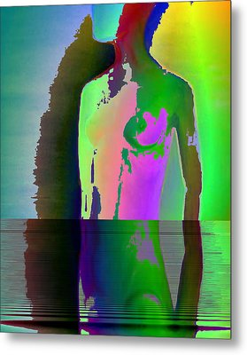 Naked Thoughts Metal Print by Susan  Solak