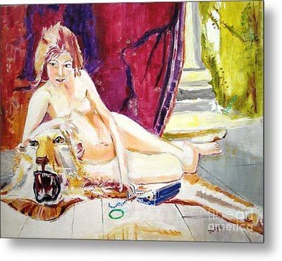 Metal Print featuring the painting Naked Truth by Judy Kay
