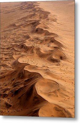 Namibia Aerial Metal Print by Nina Papiorek