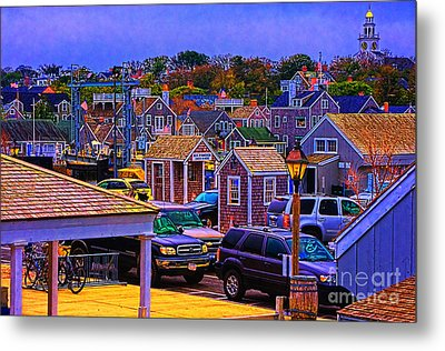 Nantucket Clusters Around The Port Metal Print by Jack Torcello
