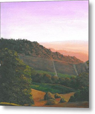 Napa Orchards Metal Print