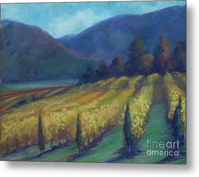 Napa Valley View From The Castle Metal Print by Deirdre Shibano
