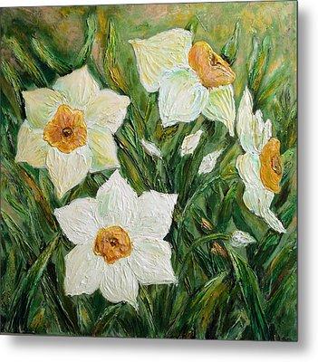 Narcissus In Bloom Metal Print