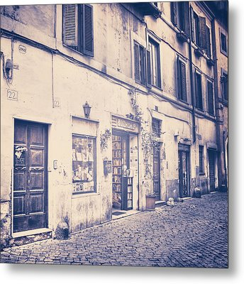 narrow street in Rome Metal Print by Joana Kruse