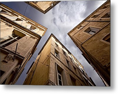 Narrow Streets Of Montpellier Metal Print by Evgeny Prokofyev