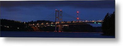 Metal Print featuring the photograph Narrows Bridges At Dusk by Rob Green