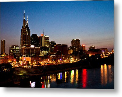 Nashville Skyline Metal Print by Elizabeth Wilson
