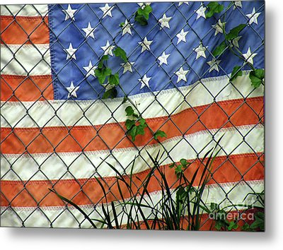 Nation In Distress Metal Print by Joe Jake Pratt