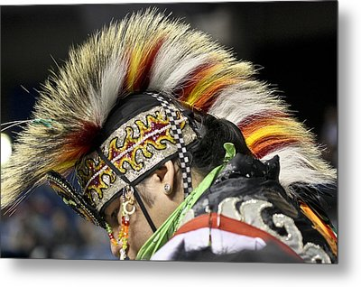 Metal Print featuring the photograph Native Canadian-head Dress by Nick Mares