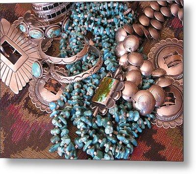 Native Wealth Metal Print by Penny Anast