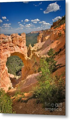 Natural Bridge In Bryce Canyon National Park Metal Print by Louise Heusinkveld