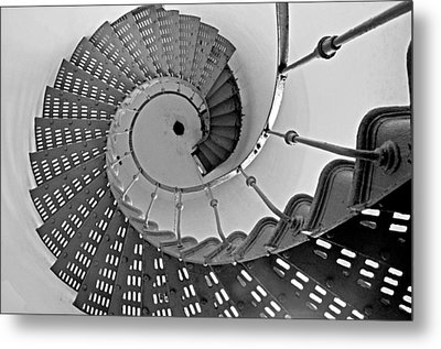 Metal Print featuring the photograph Nautilus Stairs by Sandy Fisher