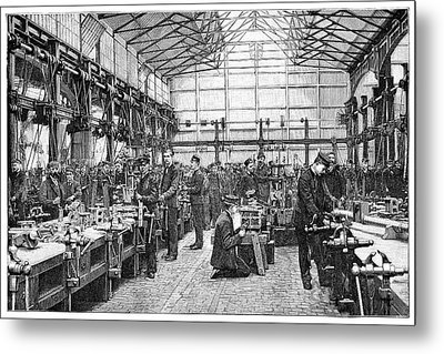 Naval Engineering School, 19th Century Metal Print by