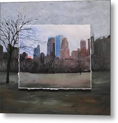 Ncy Central Park Layered Metal Print by Anita Burgermeister