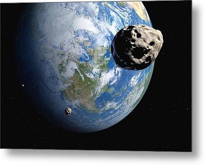 Near-earth Asteroids, Artwork Metal Print by Detlev Van Ravenswaay