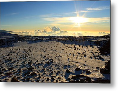 Metal Print featuring the photograph Nearing Mauna Kea Summit by Scott Rackers