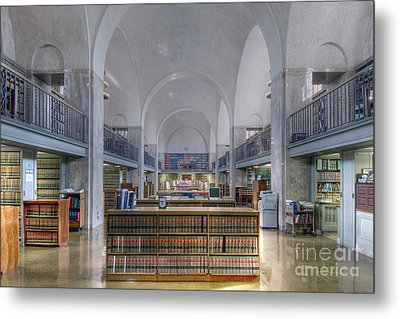 Nebraska State Capitol Library Metal Print by Art Whitton